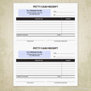 Petty Cash Receipt Printable (editable) for 5.5 x 8.5, Half Sheet