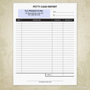 Petty Cash Report Printable Form (editable)
