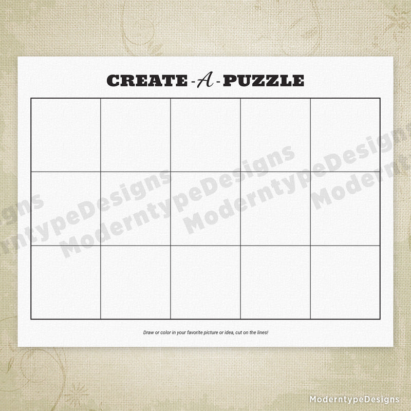 Create-a-Puzzle Printable