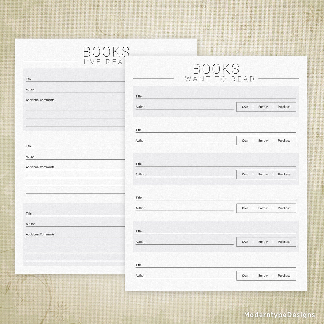 image about Books I've Read Printable named Textbooks Ive Study Printable, Publications I Require towards Study Moderntype