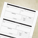 Three Receipts On One Sheet Printable