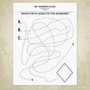 Find the Path to the Shape Printable (personalized)