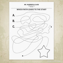 Find the Path to the Shape Printable (editable)
