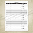 Sleep Log Printable Form