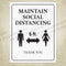 Maintain Social Distancing Printable Sign