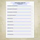 Survey Form Template Printable (editable)
