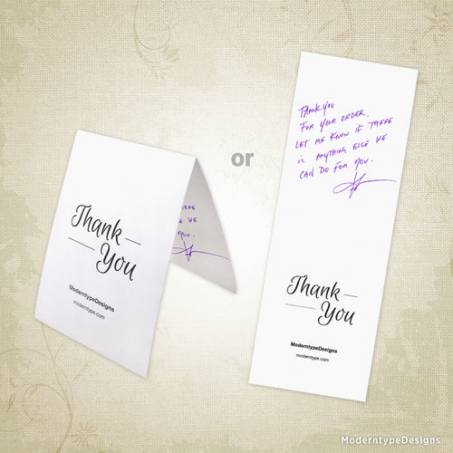 Thank You Card Printable for 3 x 8.5