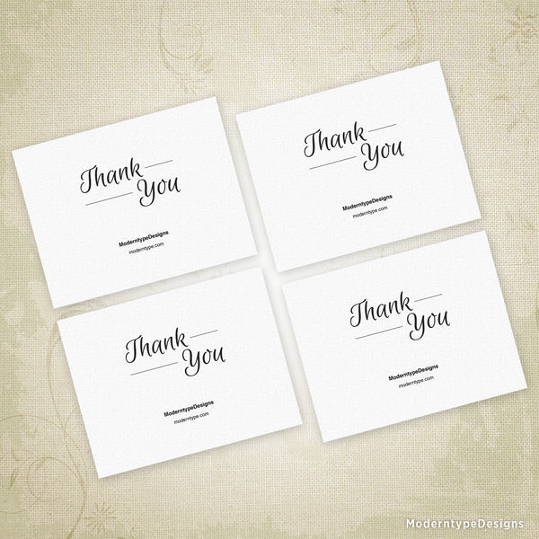 Simple Thank You Card Printable for 5.5 x 4.25