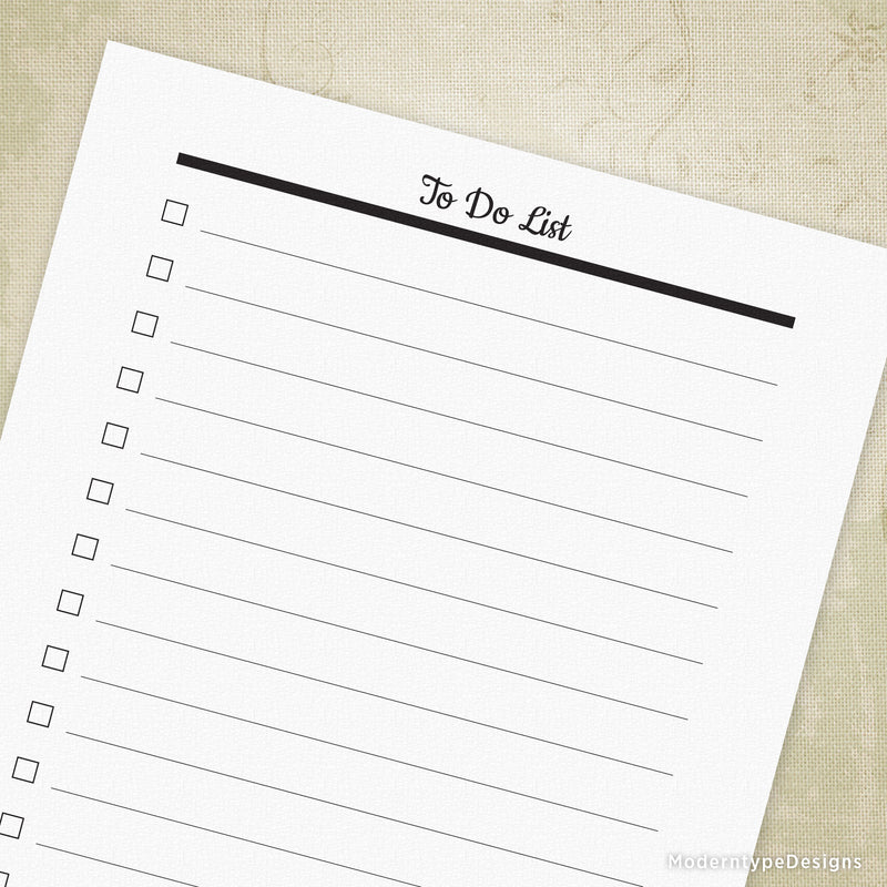 To Do List Planner Printable