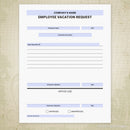 Employee Vacation Request Printable Form (editable)