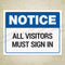 All Visitors Must Sign In Printable Sign