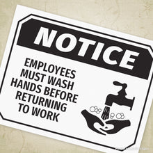 Load image into Gallery viewer, Employee Wash Hands Printable Sign