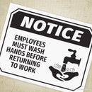 Employee Wash Hands Printable Sign