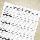 Application for Employment Printable (editable)