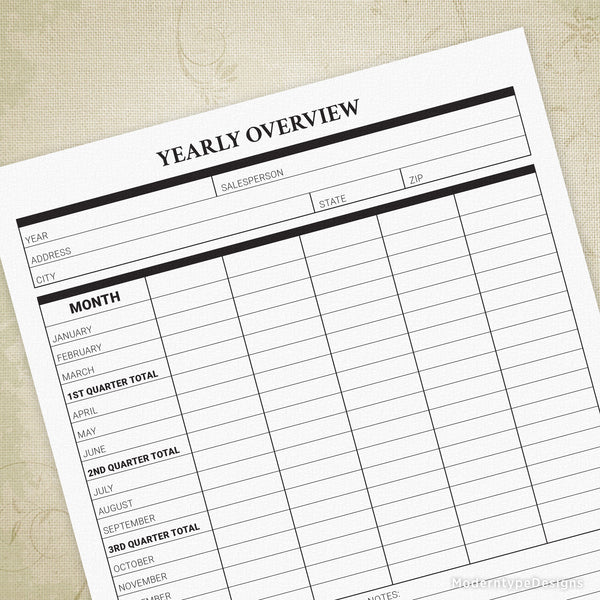 Yearly Expense Report Printable Form