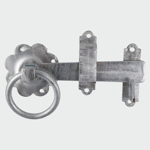 "Ring Gate Latch - Plain Type Ring 150mm (6"") Galvanised"