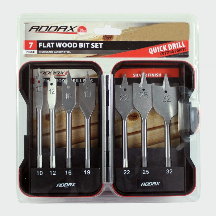 Flat Wood Drill Set 7pc