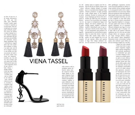 Styling | Viena Tassel Black Earrings