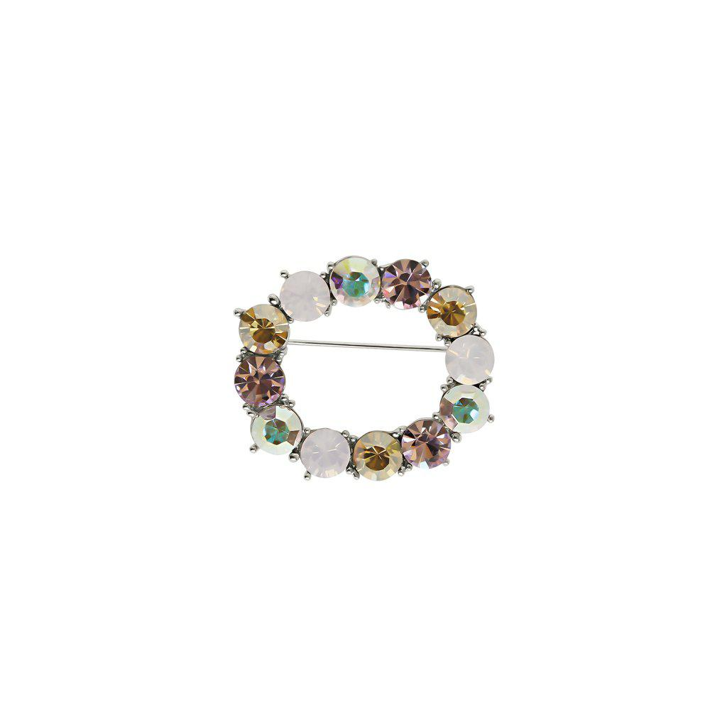 OPEL COLOURFUL CRYSTAL BROOCH