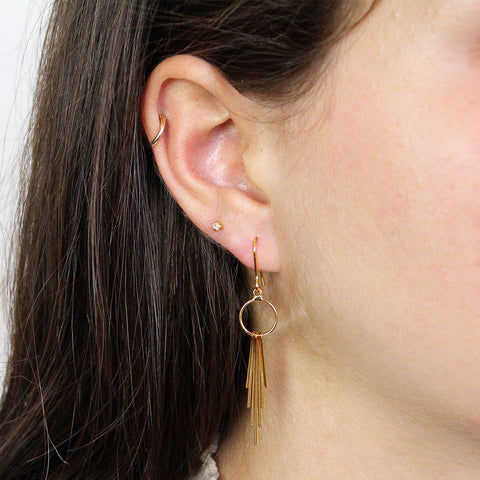 AVENE 2MICRON GOLD PLATED EARRINGS