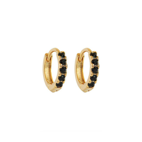 AMALA BLACK & GOLD CRYSTAL HUGGIES