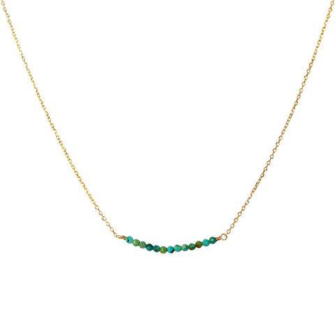 AMIA TURQUOISE GOLD PLATED SEMI PRECIOUS NECKLACE