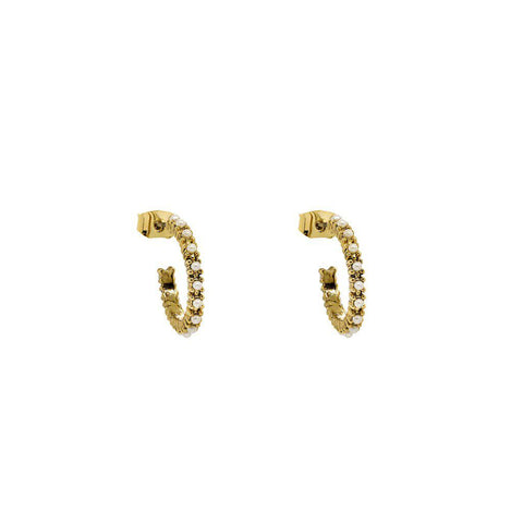 ANDY PEARL HOOPS EARRINGS