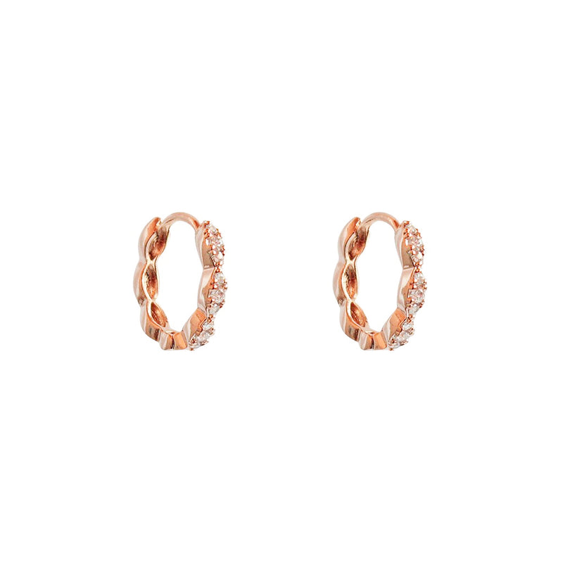 ANKA ROSE GOLD CRYSTAL HUGGIES