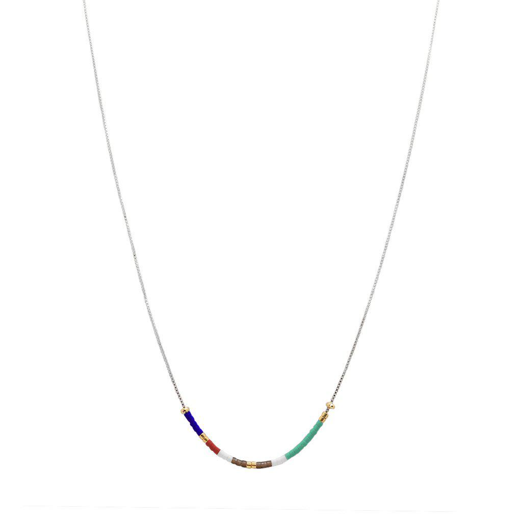 APRIL COLOURFUL BEADS STERLING SILVER PENDANT