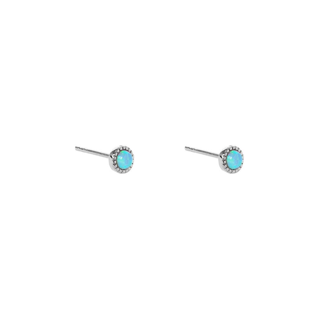 AULI BLUE OPALITE STERLING SILVER STUDS