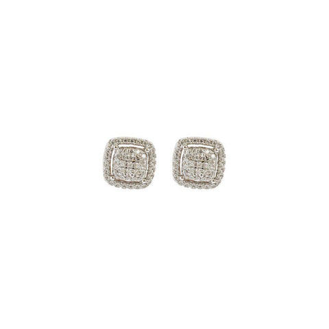AUSET SQUARE CRYSTAL STUDS