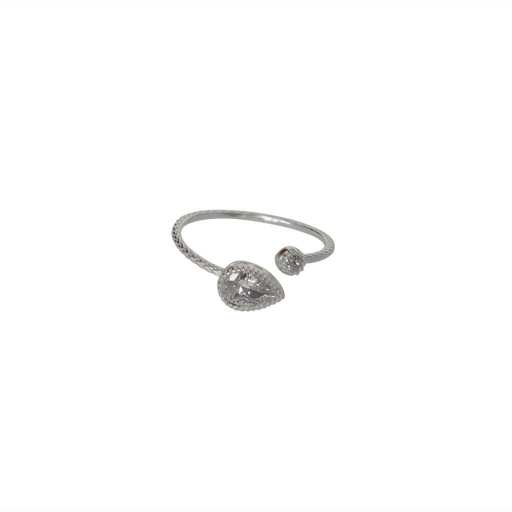 AVALON CRYSTAL STERLING SILVER RING