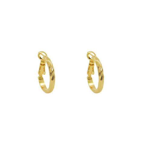 ALIKA 2 MICRON GOLD HOOPS