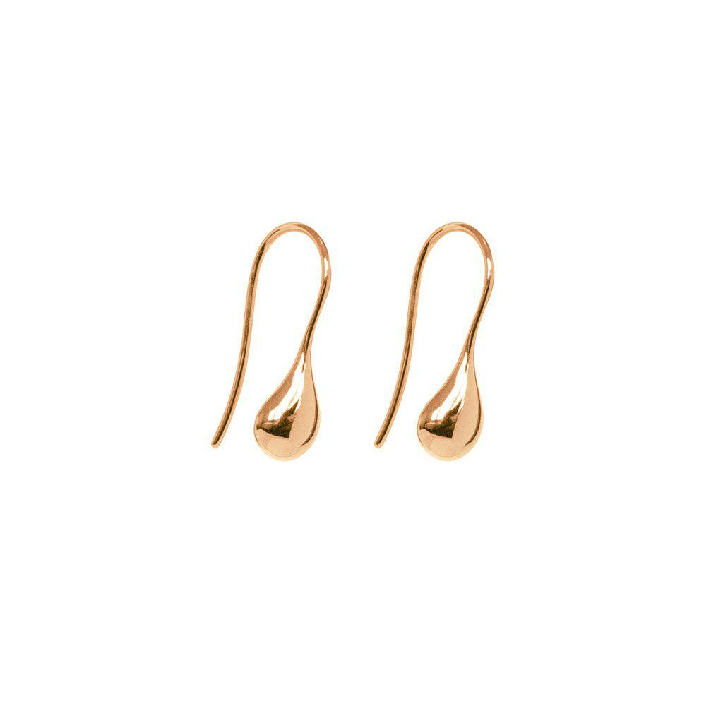 BEL TEARDROP ROSE GOLD HOOK EARRINGS