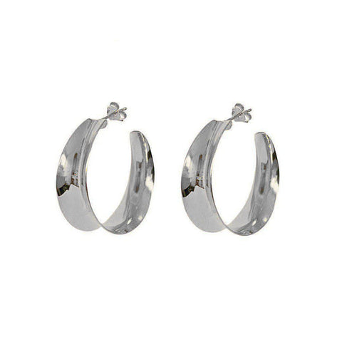 BOLD HOOPS STERLING SILVER EARRINGS