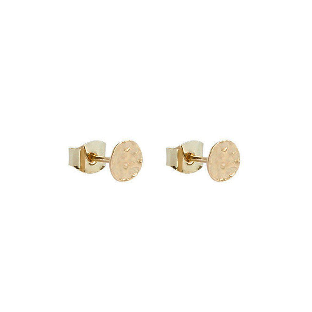 BRACHA 2 MICRON GOLD STUD EARRINGS