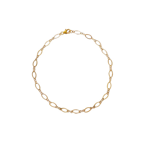 CHARLET GOLD PLATED CHAIN ANKLET