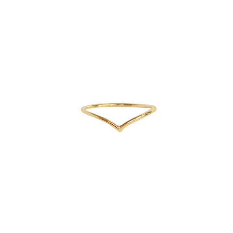 CHEVRON THIN GOLD RING