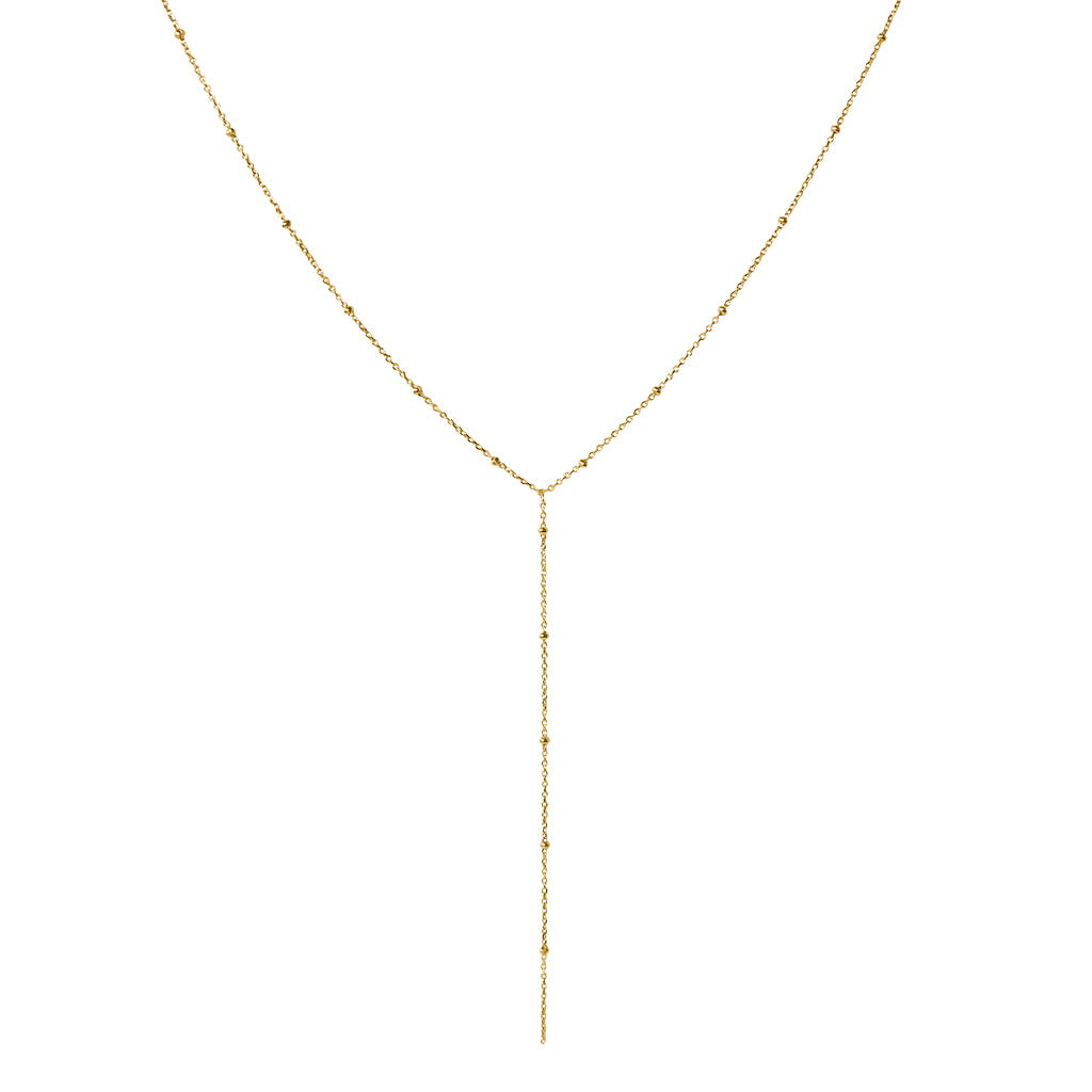 ETTA LARIAT GOLD FILLED NECKLACE