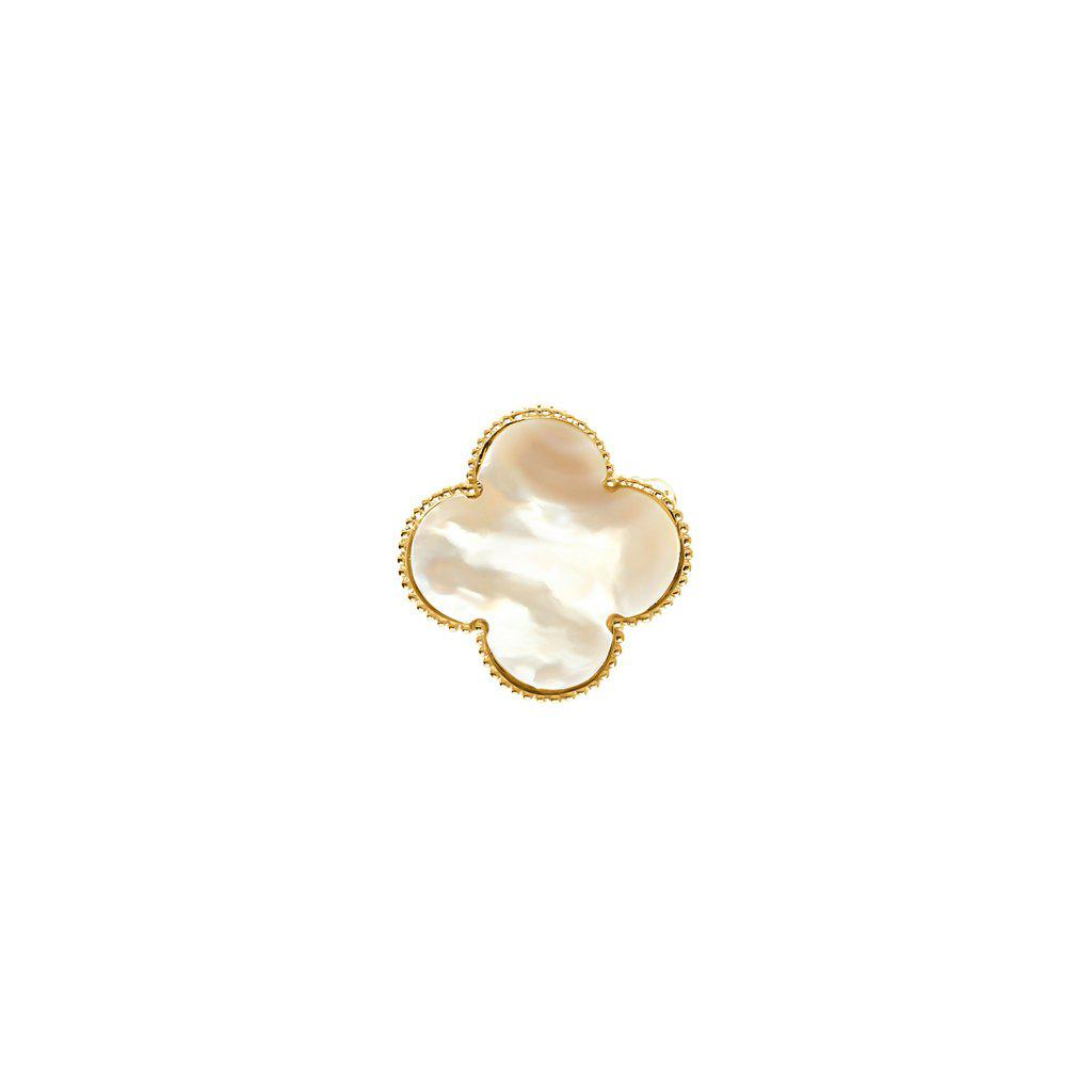 CLOVER MOTHER OF PEARL BROOCH