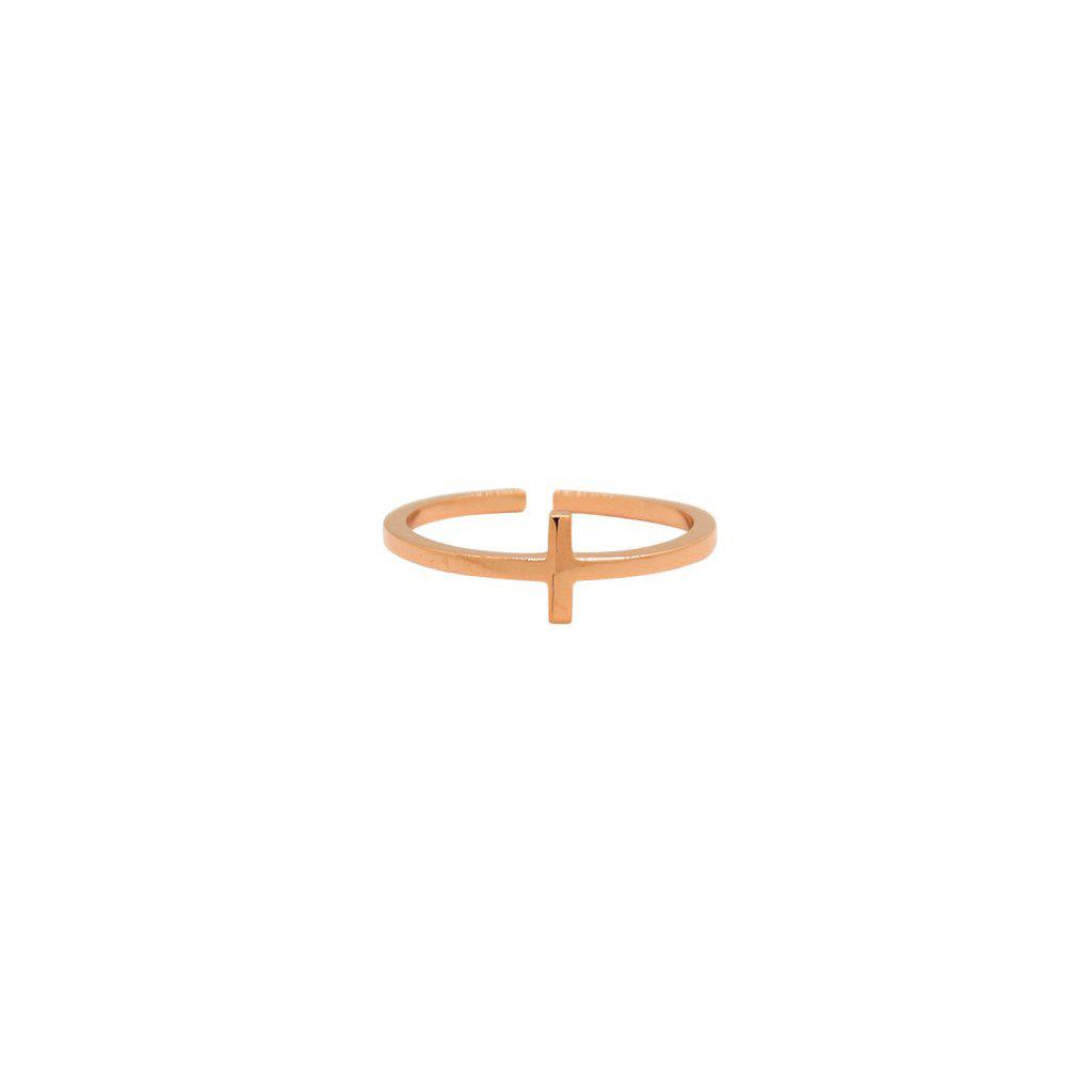 CROSS PLAIN ROSE GOLD RING