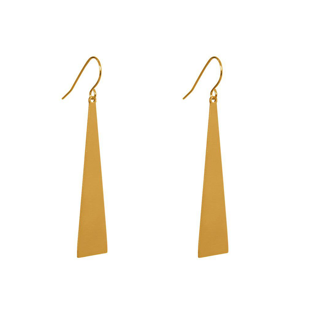 CARNI 2 MICRON GOLD TRIANGLE EARRINGS
