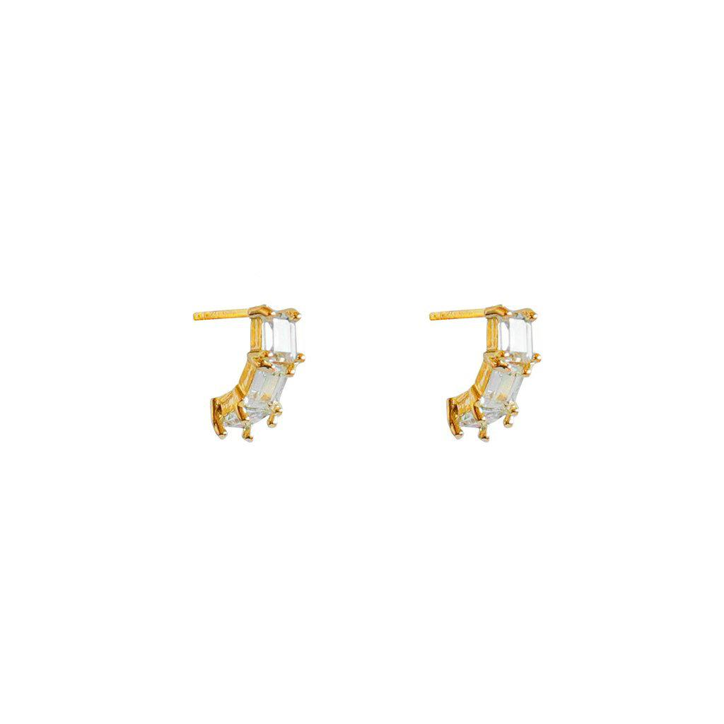 CEIL GOLD CRYSTAL STUDS