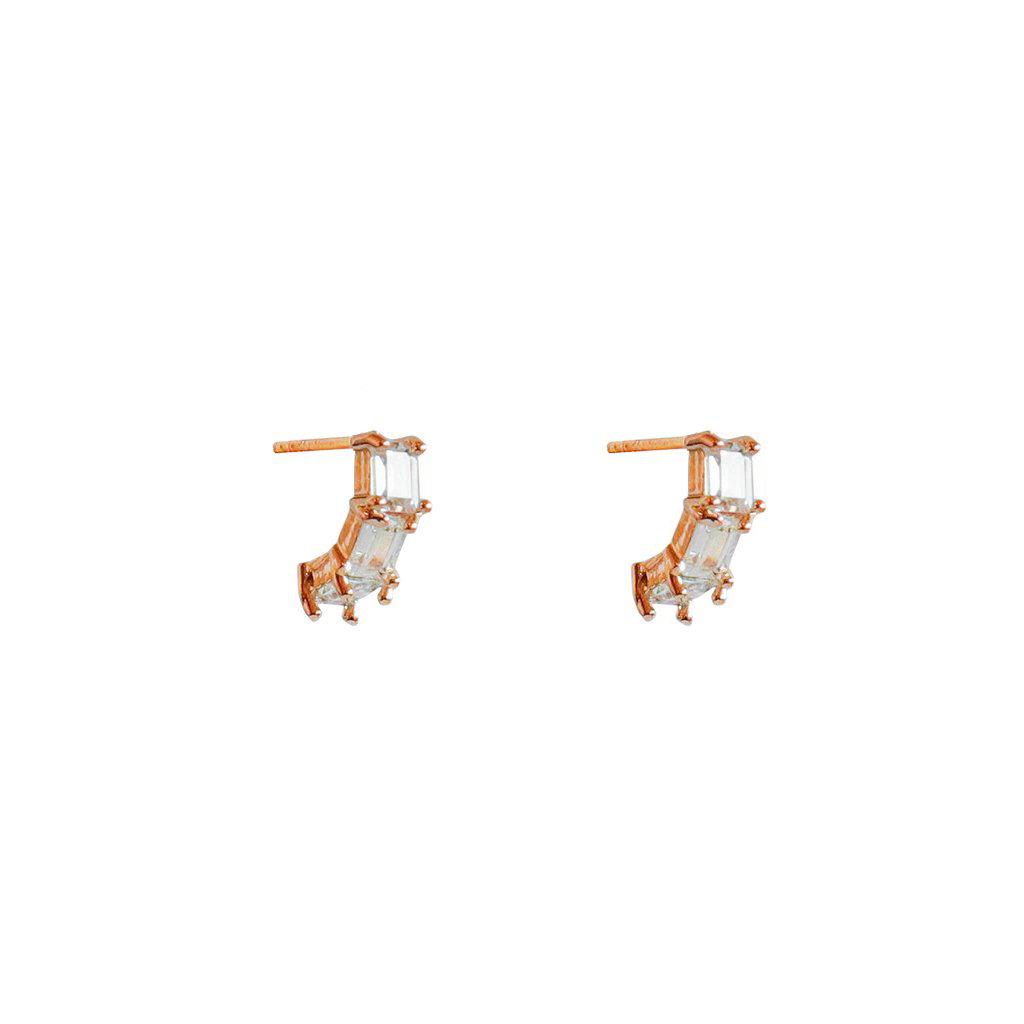 CEIL ROSE GOLD CRYSTAL STUDS