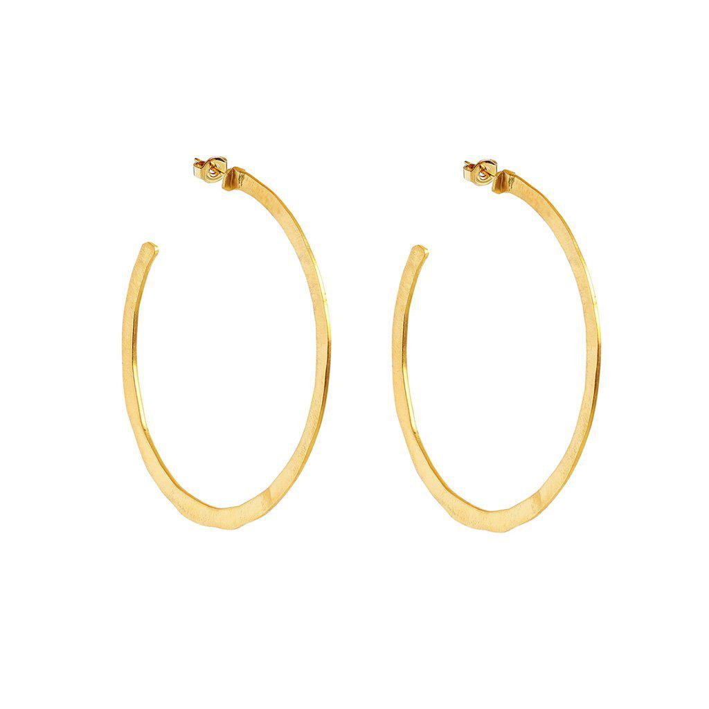 DAFNE GOLD FILLED HOOP EARRINGS