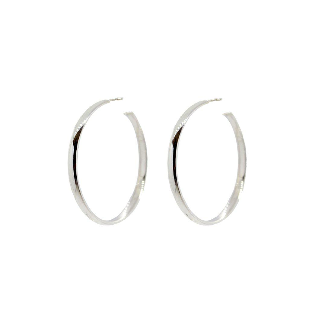 DESLEY STERLING SILVER HOOP EARRINGS