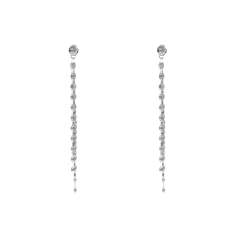 DITA TASSEL CHAIN SILVER EARRINGS