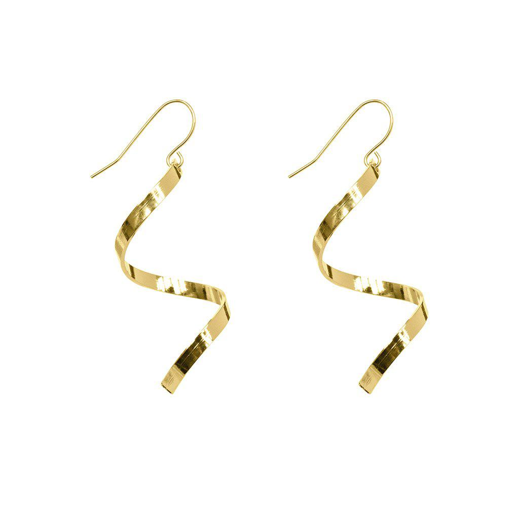 DVORA SPIRAL 2MICRON GOLD PLATED EARRINGS