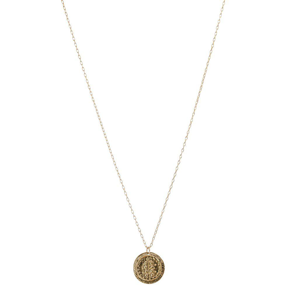DISC TEXTURED GOLD FILLED PENDANT
