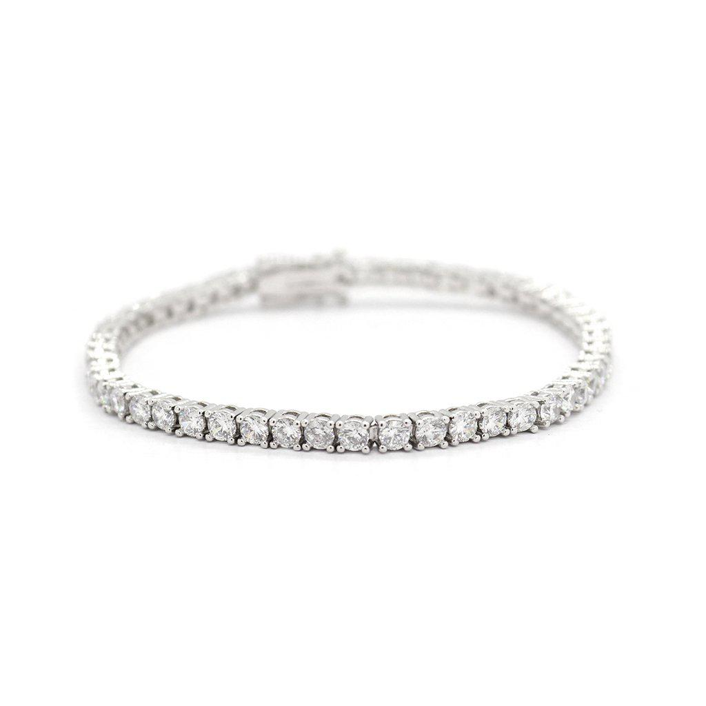 EDITH RHODIUM PLATED CRYSTAL BRACELET